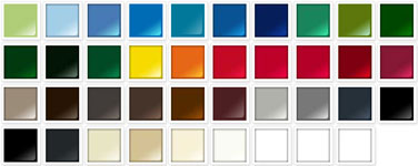 Choose from one of 39 colors. Additional charge for non-standard colors.